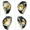 Blacky Heart Cat Watch (Weis) - Schwarze Katze mit Herz Quarz Armbanduhr wei