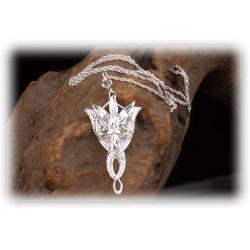 Arwens Abendstern Anhänger aus 925er Sterling Silber mit facettenreichen Swarowski-Kristallen