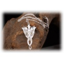Arwens Evening Star Pendant in 925 Sterling Silver with Multifaceted Swarowski Crystals