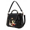Gothic Fashion Damen-Umhänge-Handtasche aus hochwertigem PU Leder
