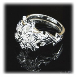 Nenya - Galadriels Ring of Water - Hard Silver Plated with 925 Sterling Silver with Multifaceted Zircon Crystal
