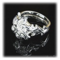 Nenya - Galadriels Ring des Wasser - hartversilbert mit 925er Sterling Silber mit facettenreichem Zirkon-Kristall