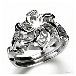Nenya - The Wise Ring Galadriels - made of 925 sterling silver with facet-rich zircon crystal