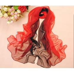 Silk scarf with fine gradient in colours