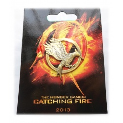 Spottt oil brooch Hunger Games *New Design* badge - old gold/bronze