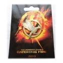Spottt oil brooch Hunger Games *New Design* badge - old gold/bronze