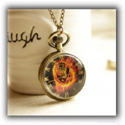 The Tribute of Panem - Mocking Watch Pendant - Quartz Watch - Hunger Games