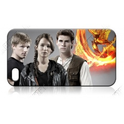 Panem - Freunde - Jennifer Lawrence, Josh Hutcherson, Liam Hemsworth - iPhone 5 Handy Schutzhülle - Cover Case