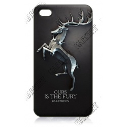 GoT - Baratheon Hirsch - ours is the Fury - iPhone 4 / 4S Phone Protective Case - Cover Case