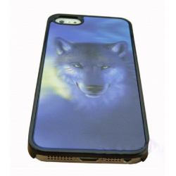 Wolf 3D Picture - Visual 3D Effect - iPhone 5 Schutzhülle - High Quality - Cover Case