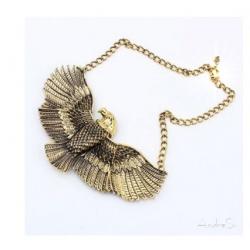 goldener ägyptischer Adler Horus - 3D Anhänger - hartvergoldet inkl. Kette - Fashion Ägypten