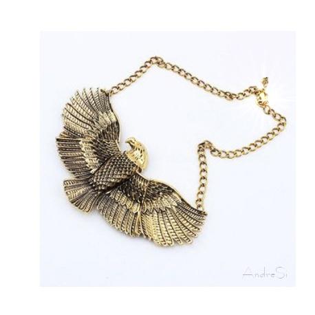 goldener ?gyptischer Adler Horus - 3D Anh?nger - hartvergoldet inkl. Kette - Fashion ?gypten