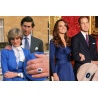Verlobungsring Prinzessin Diana - Lady Di / Kate Middleton - hartversilbert mit faccetenreichen Swarovskikristallen