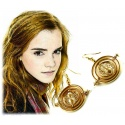 Hermione's Time Reverse Earrings Set - Hermione Granger Time-Turner with 18K Gilding