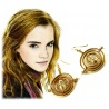 Hermines Zeitumkehrer Ohrringe Set - Hermine Granger Time-Turner mit 18K Vergoldung