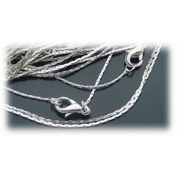 Fashion snake necklace without pendant approx. 42cm - very fine approx. 0.8mm and supple - made of stainless steel - hard silver