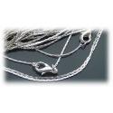 Fashion Schlangen-Halskette ohne Anhänger ca. 42cm - sehr fein ca. 0,8mm und geschmeidig - aus Edelstahl - hartversilbert