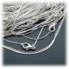 Fashion Schlangen-Halskette ohne Anh?nger ca. 42cm - sehr fein ca. 0,8mm und geschmeidig - aus Edelstahl - hartversilbert