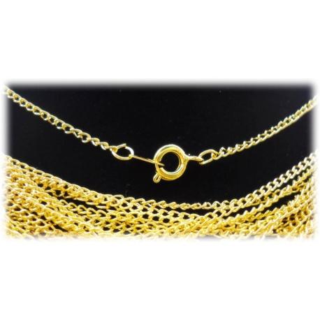 Fashion Halskette 44cm ohne Anh?nger ca. 2mm - hartvergoldet