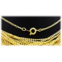 Fashion Halskette 44cm ohne Anhänger ca. 2mm - hartvergoldet