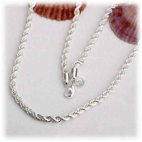 wundersch?ne Schlaufen-Halskette aus 925er Silber ohne Anh?nger ca. 52cm - ca. 2mm - sehr geschmeidig