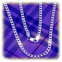 Gothic Fashion Glieder-Halskette ohne Anhänger ca. 54cm - ca. 4mm - aus 925 Sterling Silber (hochglanz poliert)