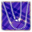 Gothic Fashion links necklace without pendant approx. 54cm - approx. 4mm - made of 925 sterling silver (high gloss polished)