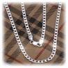 Gothic Fashion Glieder-Halskette ohne Anh?nger ca. 54cm - ca. 4mm - aus 925 Sterling Silber (hochglanz poliert)