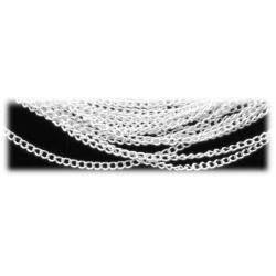 Edelstahl Halskette ohne Anhänger 48cm - ca. 2mm - hartversilbert