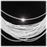 Edelstahl Halskette ohne Anh?nger 48cm - ca. 2mm - hartversilbert