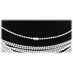 Kugel-Halskette 50cm ohne Anhänger Edelstahl hartversilbert