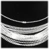 Kugel-Halskette 50cm ohne Anh?nger Edelstahl hartversilbert