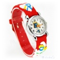 Kids Time Smurfette with Comfortable Silicone Bracelet for Kids Color Red, Quartz Watch, Analog