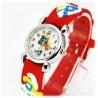 Kids Time Schlumpfine mit bequemem Silikon Armband f?r Kinder Farbe Rot, Quartz Uhr, Analog