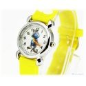 Kids Time Smurf Wristwatch McTapfer / Gutsy Smurf with Silicone Bracelet for Kids Yellow