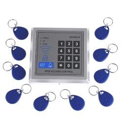 Beruehrungsloses RFID Tuerschloss, Toroeffner , Tueroeffner, Zutrittskontrollsystem, Access Control System+10Stueck Transponder
