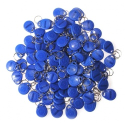 100 x RFID Transponder Chip Key EM, 125KHz, Blue Cute