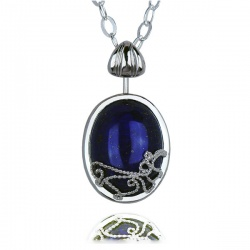 Vampire Katherine Tageslicht Anhänger mit Halskette mit Lapislazuli