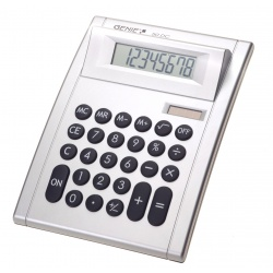 Genie 50 DC, 8-digit desktop calculator with dual power