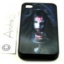 Vampir-Lady mit Trinkpokal voll Blut - 3D Motiv mehrstufig - iPhone 4 / 4S Schutzhülle - Cover Case - Magic Gothic Fashion