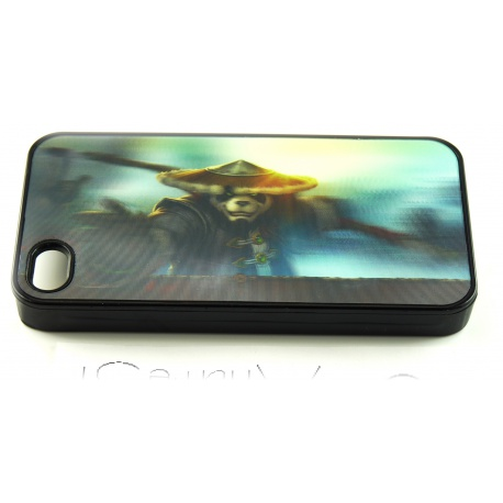Pandaren Krieger - World of Warcraft Fashion - 3D Motiv mehrstufig - iPhone 4 / 4S Schutzh?lle