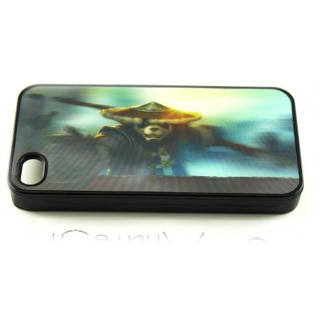 Pandaren Krieger - World of Warcraft Fashion - 3D Motiv mehrstufig - iPhone 4 / 4S Schutzh?lle