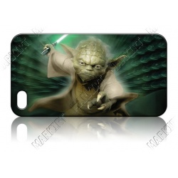 Yoda with laser sword - iPhone 5 Phone Protective Case - Cover Case