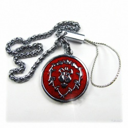 WoW - Alliance metal keychain with belt chain