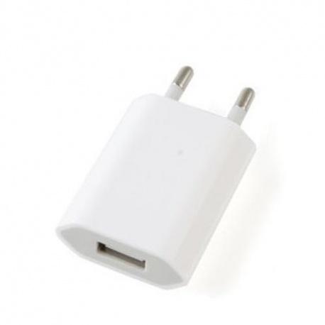 UNIVERSAL USB Ladeger?t iphone & Samsung Stecker Steckdose Netzteil Adapter wei? inkl. Ladekabel