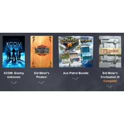 Bundle XCOM: Enemy Unknown, Sid Meier's Pirates!, Ace Patrol Bundle, und Sid Meier's Civilization III Complete