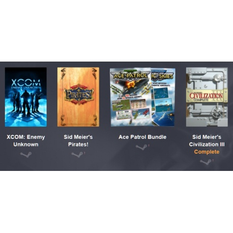 Bundle XCOM: Enemy Unknown, Sid Meier?s Pirates!, Ace Patrol Bundle, and Sid Meier's Civilization III Complete