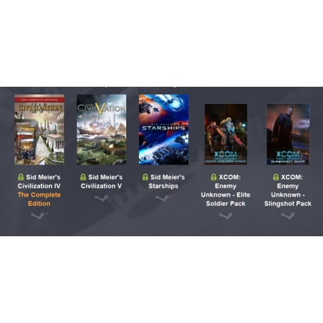 Bundle Sid Meier's Civilization IV & V, Starships, XCOM: Enemy Unknown - Elite Soldier Pack & Slingshot Pack, Enemy Within