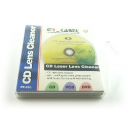 CD laser lenses cleaner with multilingual voice guide and music
