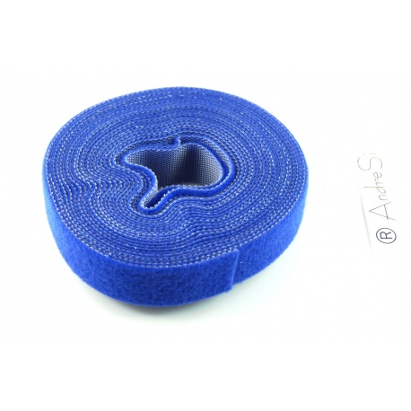 LogiLink Kabelbinder aus Klettband, 4 m, blau